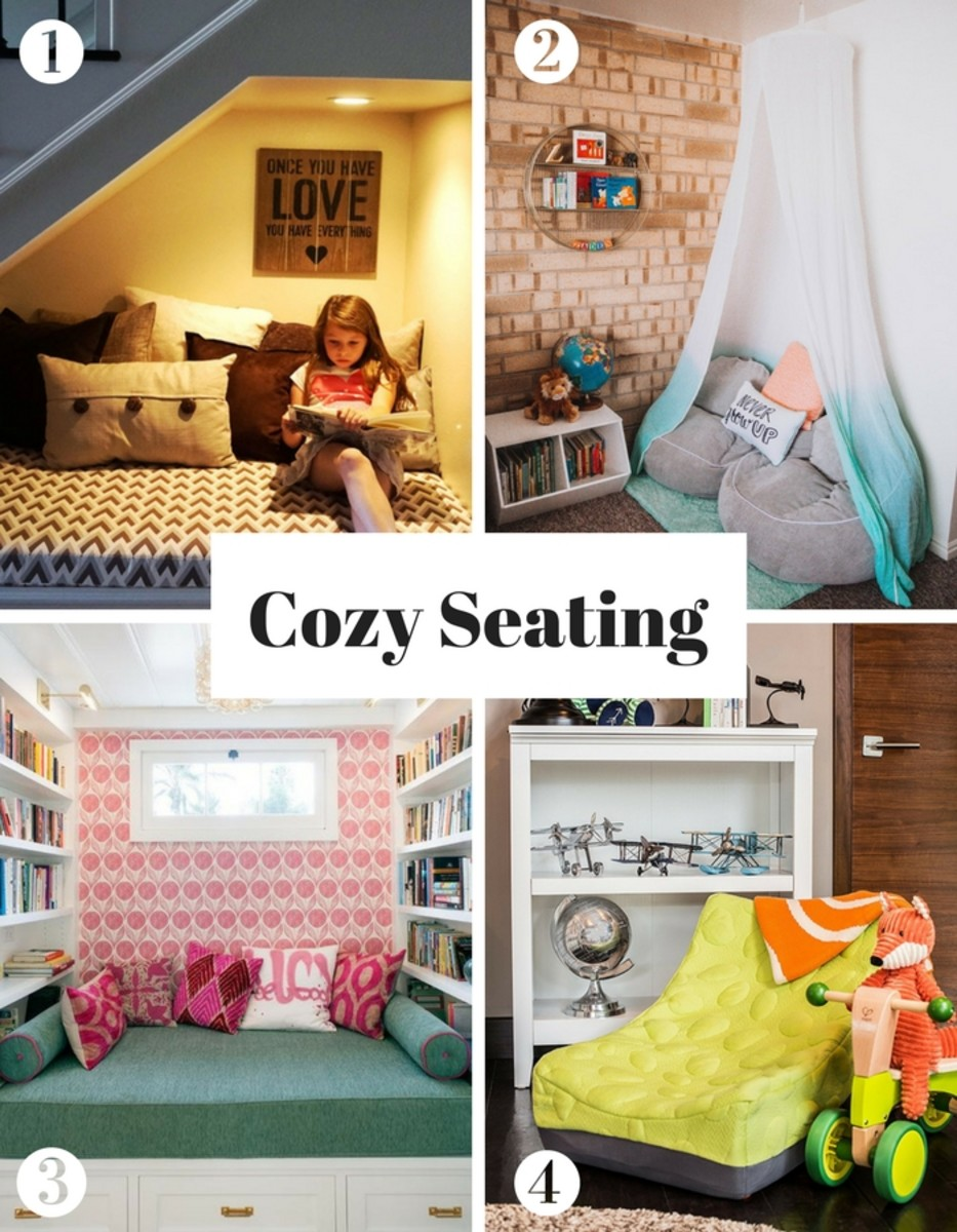 Create a reading nook - cozy seating