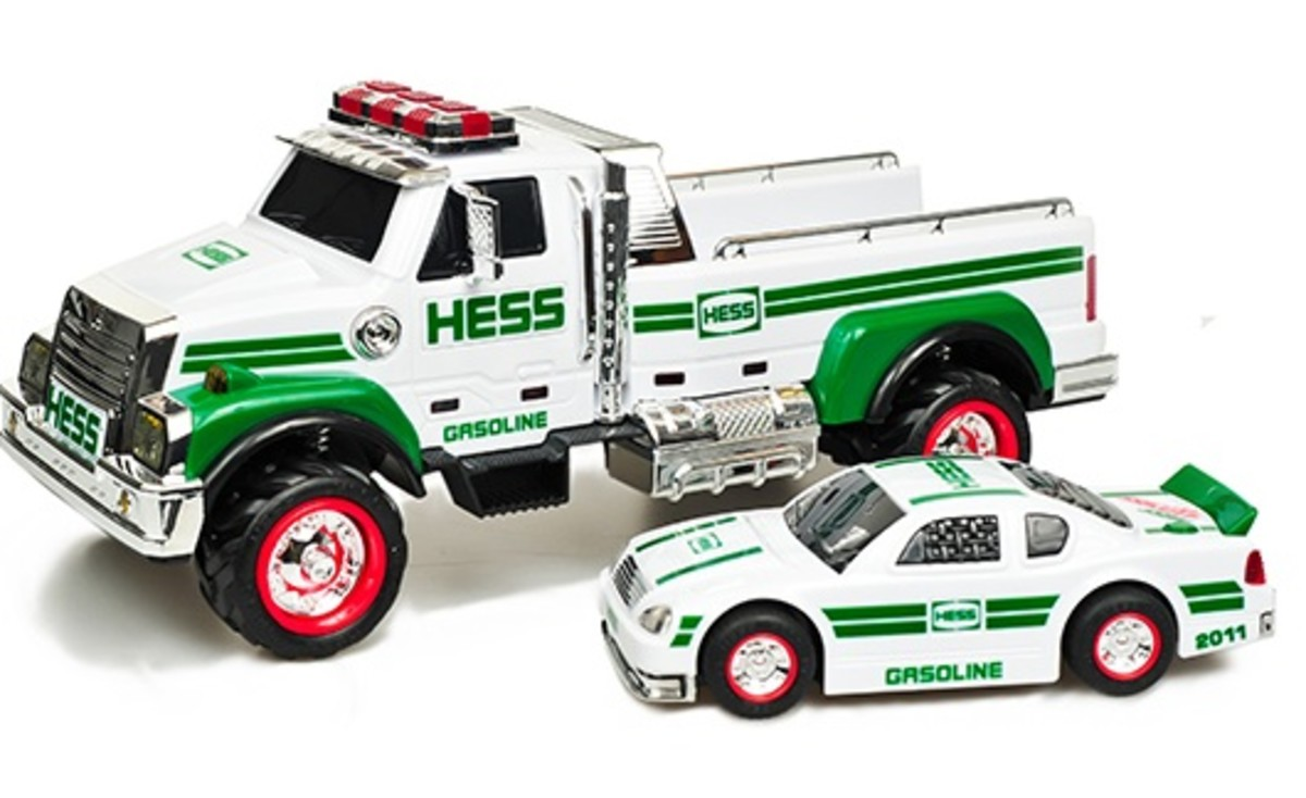 Toy Race Trucks : Holiday hess truck and race car