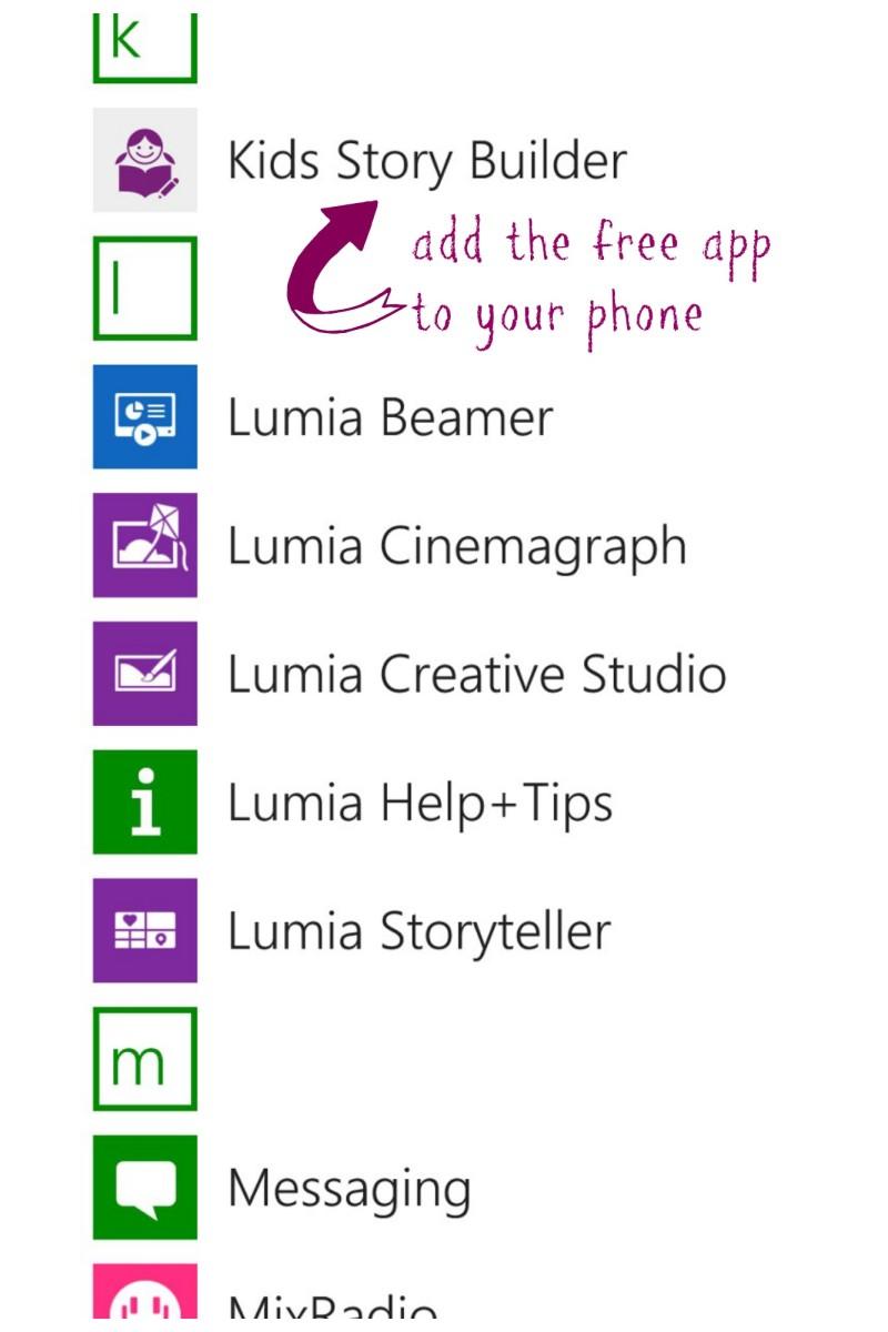 kids storybuilder app