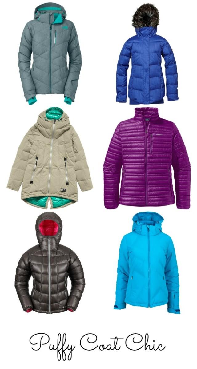 chic puffy coats, cute puffy coats