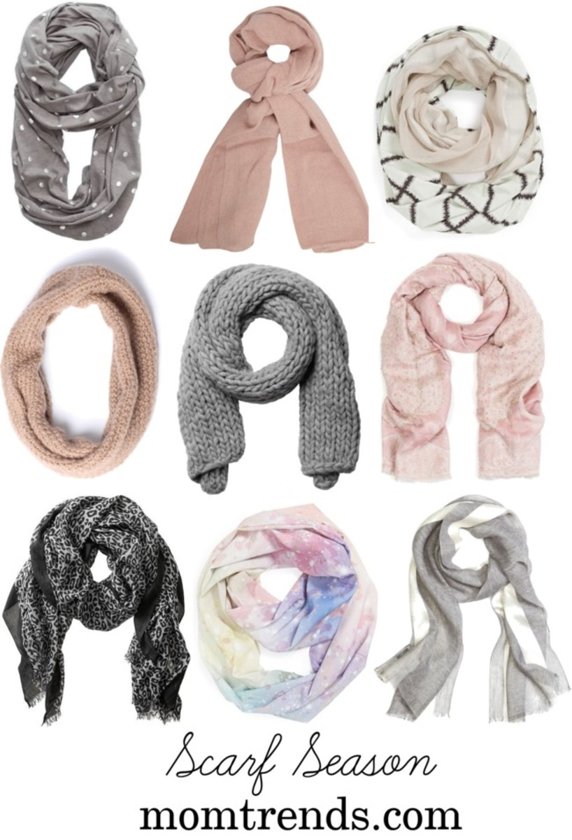 winter scarves, scarf tying for moms