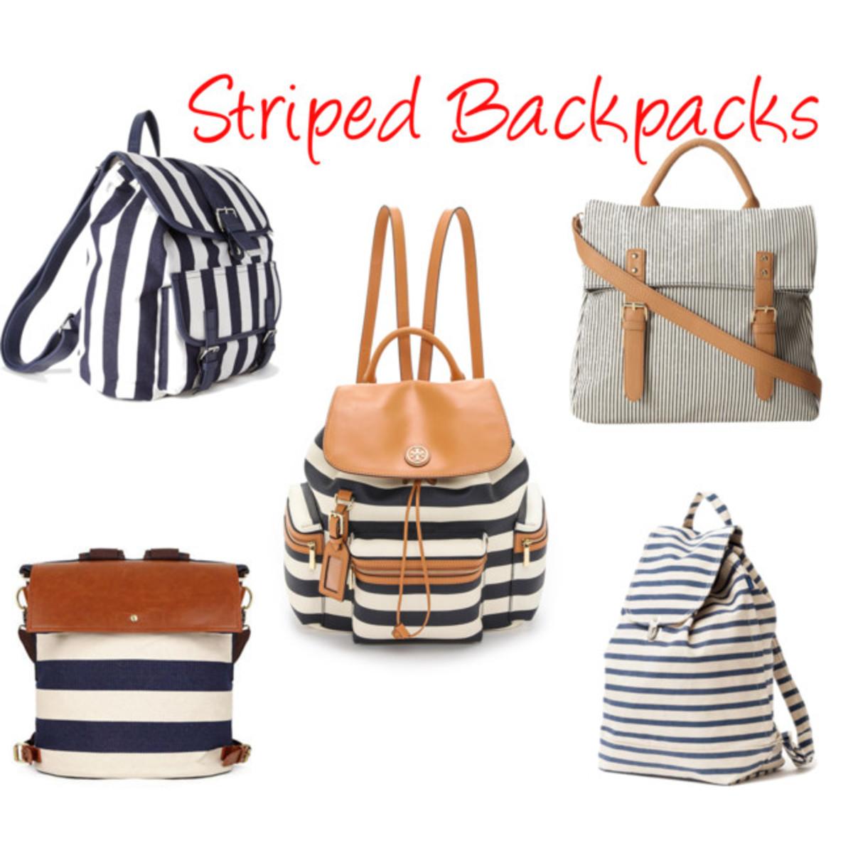 striped backpacks