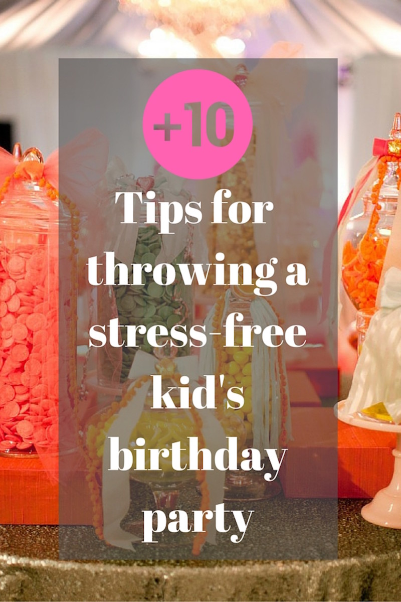 stress-free kid's birthday party