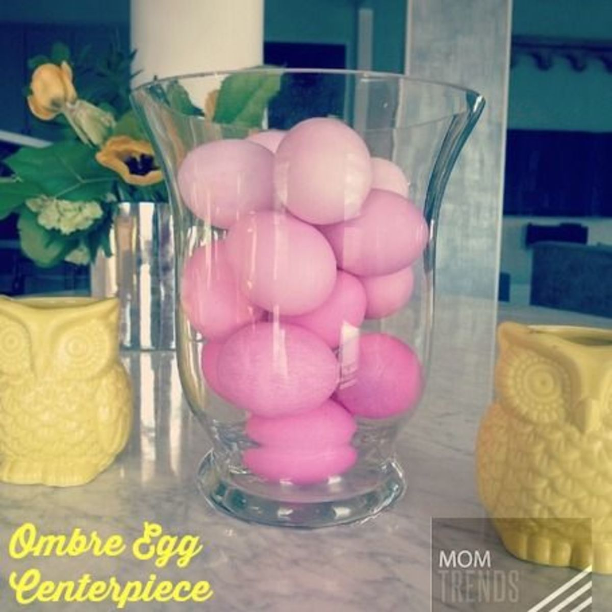 easy centerpiece for easter, ester decor, DIY centerpiece