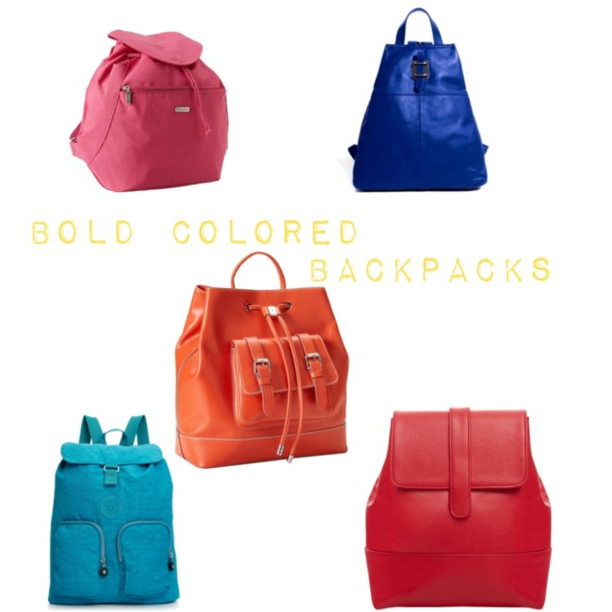 colored backpacks