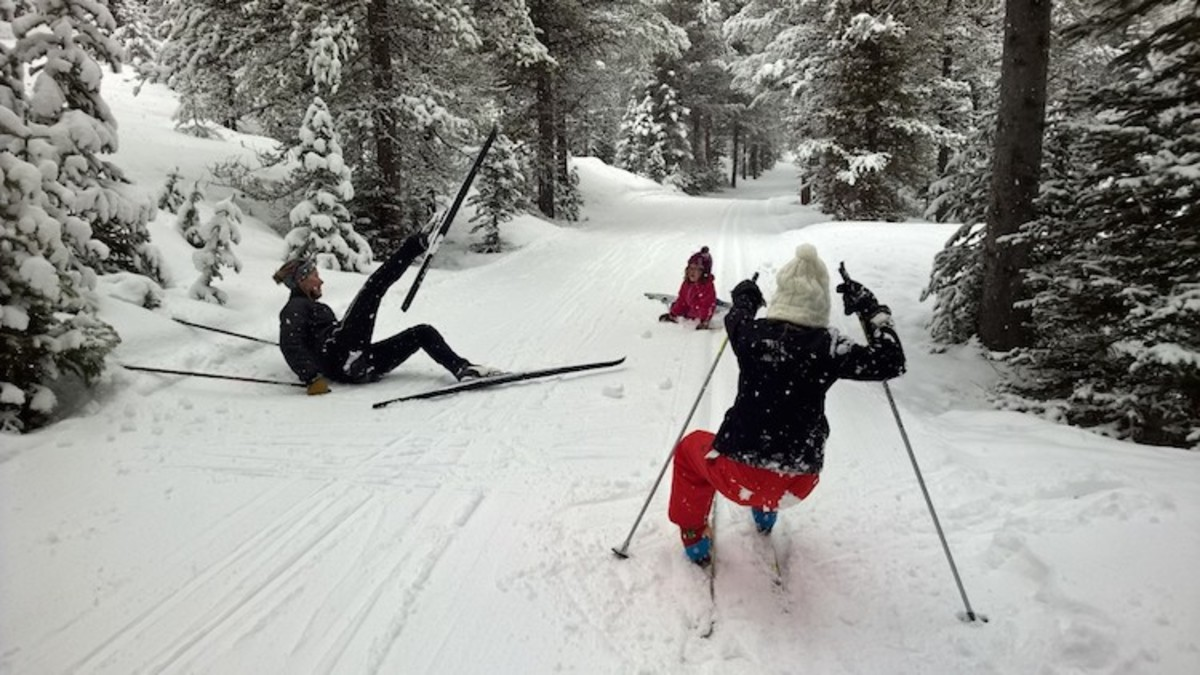 falling is fun xcountry ski