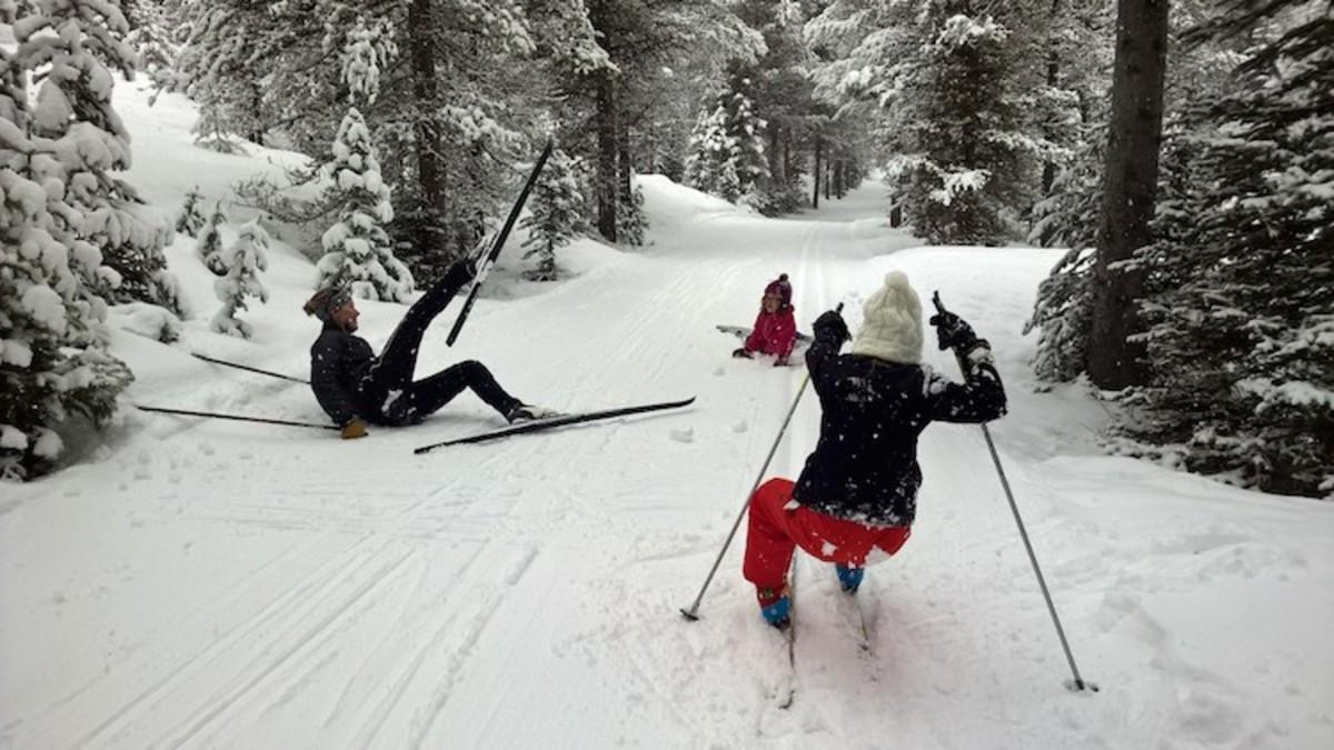 falling is fun xcountry ski