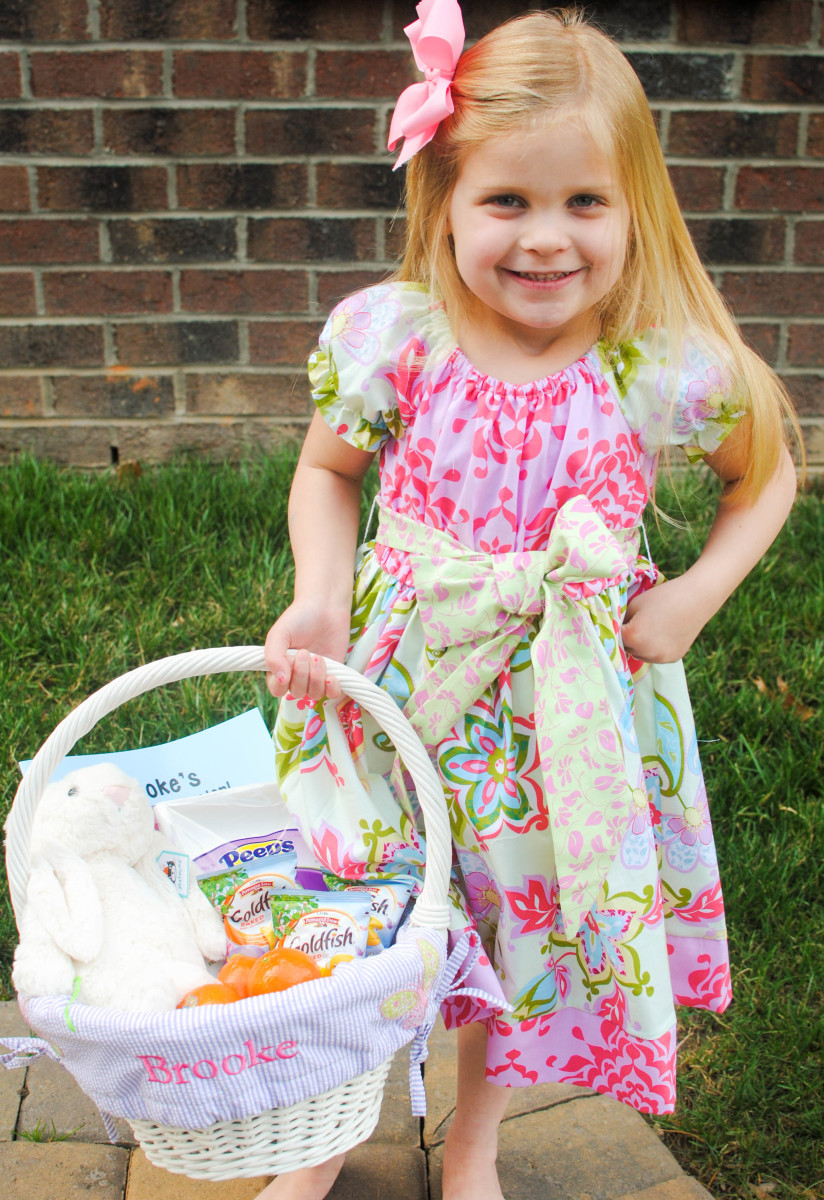 Brooke with Easter Basket_