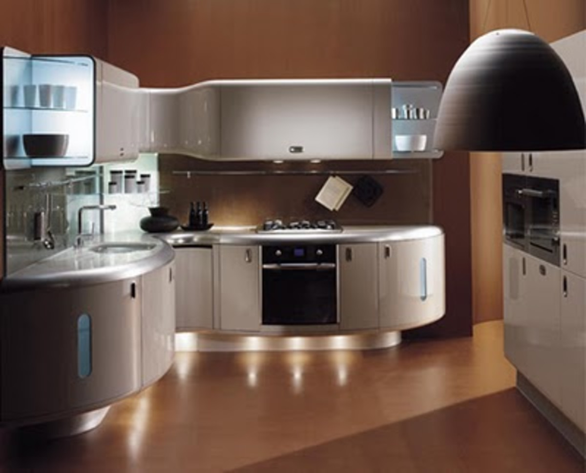 A modern kitchen designed in Italy