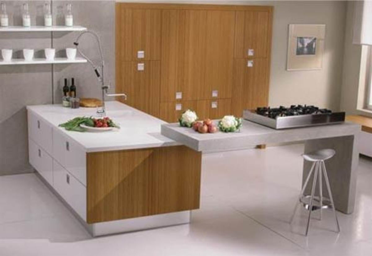 An eco-chic kitchen