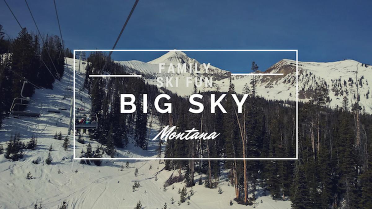 family ski fun big sky montana