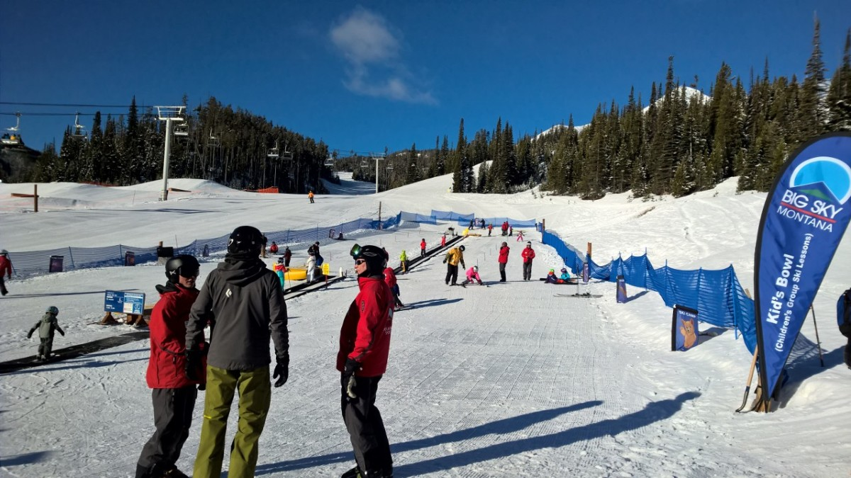 Sorting the kids at ski school
