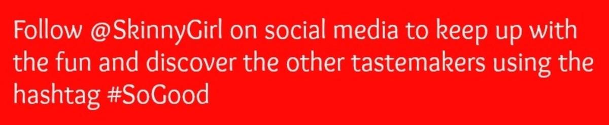 skinny girl social media