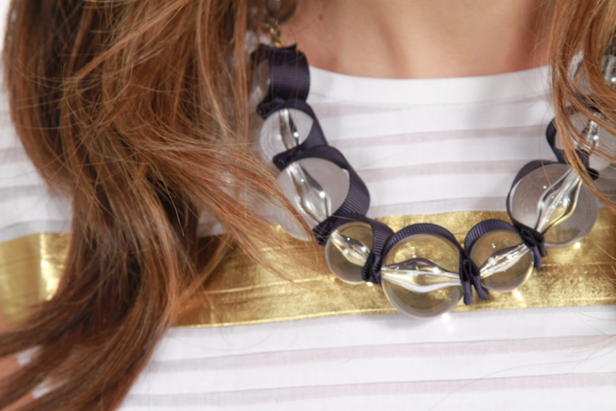 lucite necklace closeup