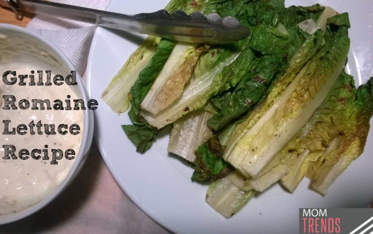 Easy Grilled Romaine Lettuce with Lowfat Caesar Dressing ...
