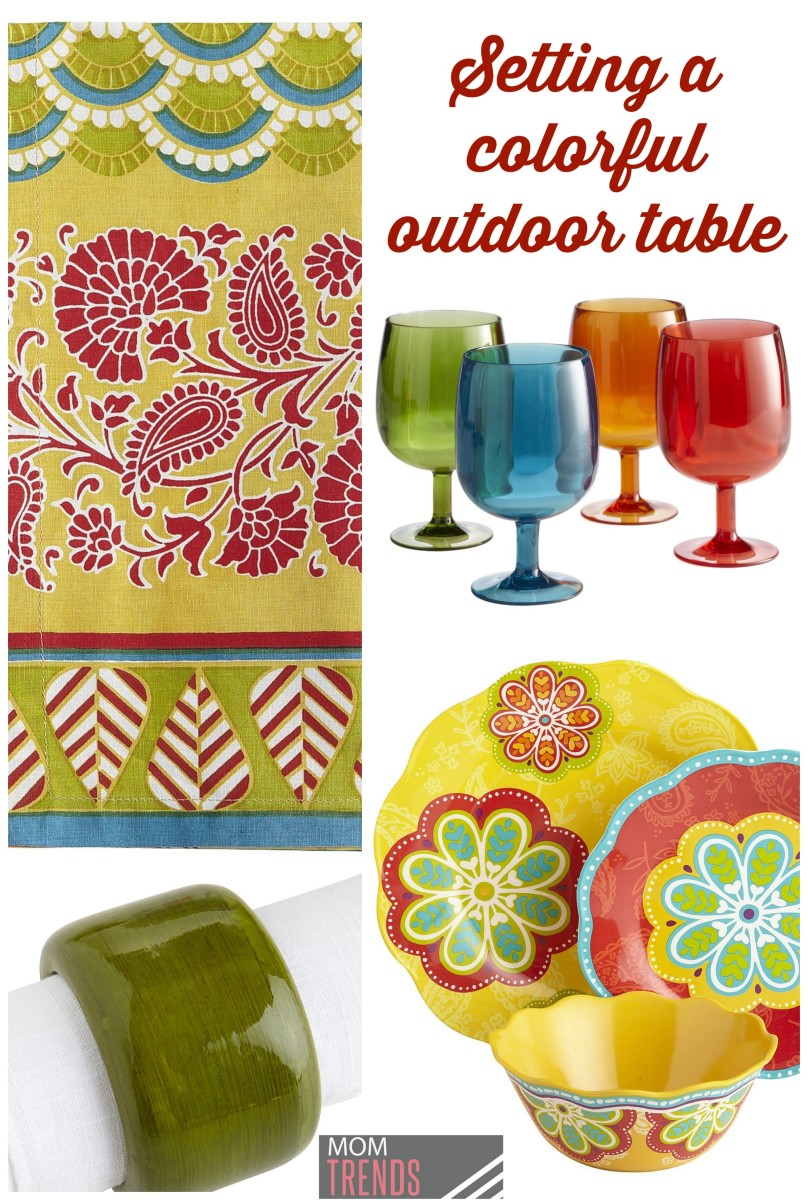 setting a colorful table