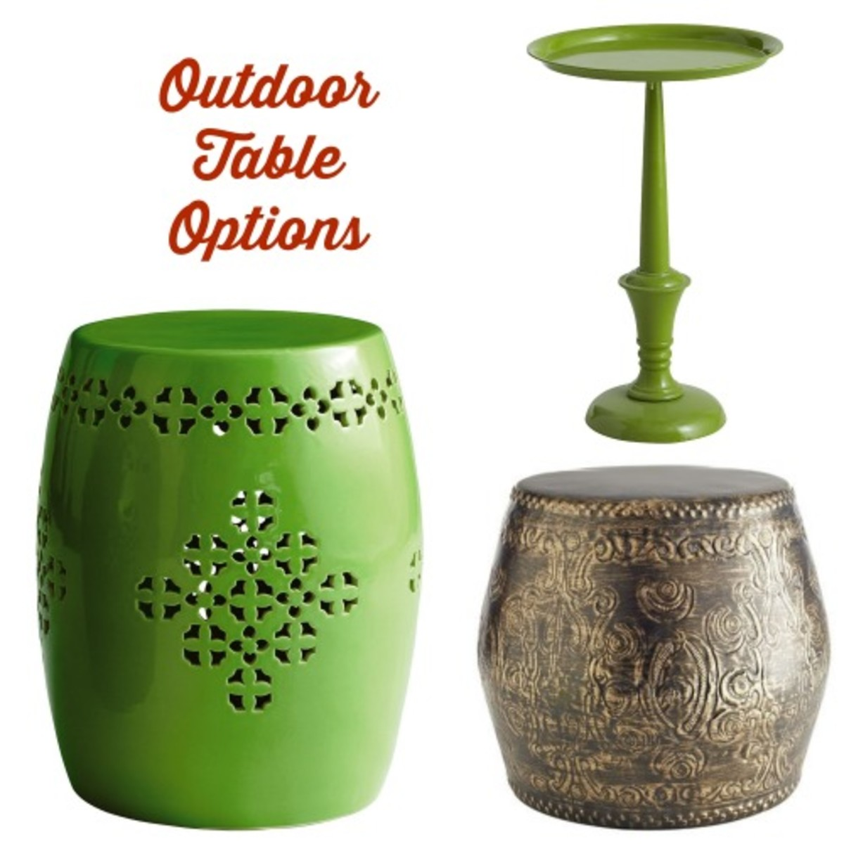 outdoor table options
