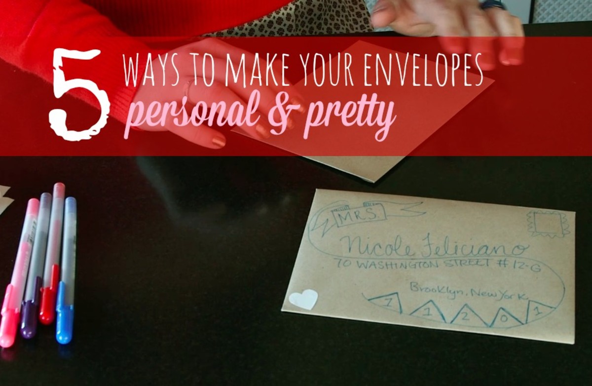 personal and pretty envelopes