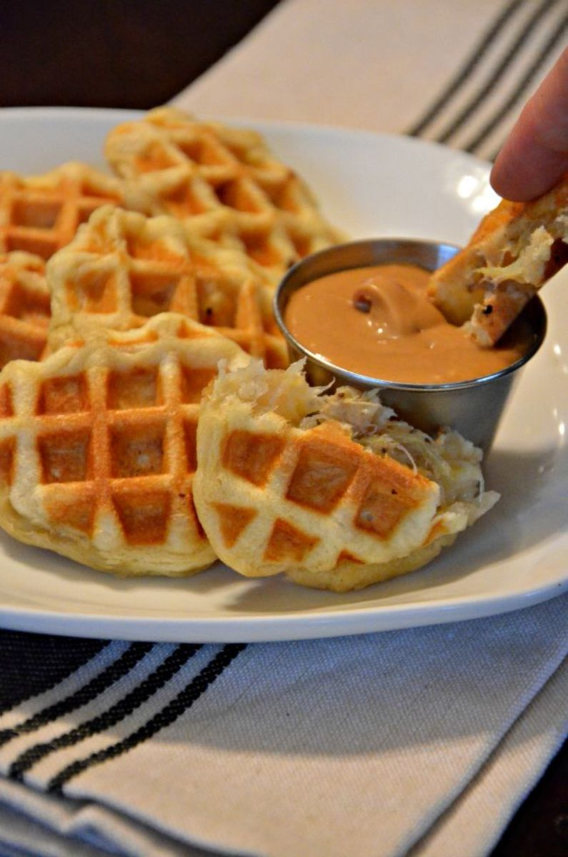 waffle dipping