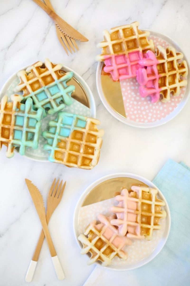 waffle color dipped