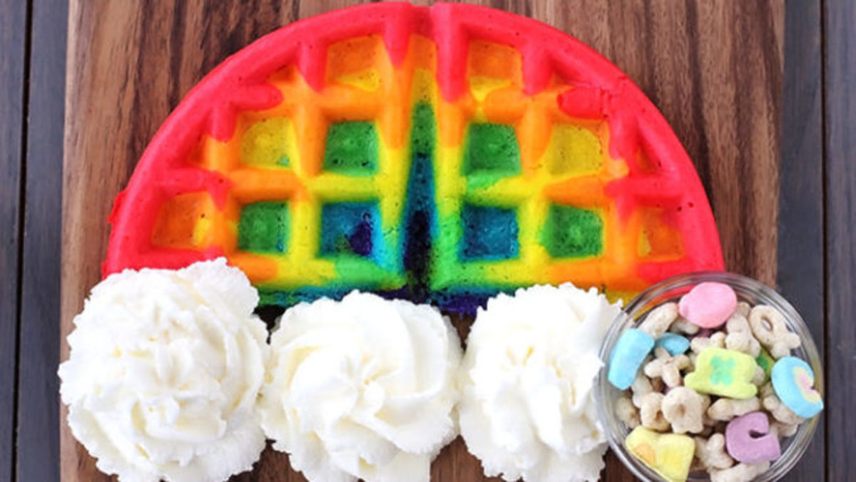 waffle rainbows