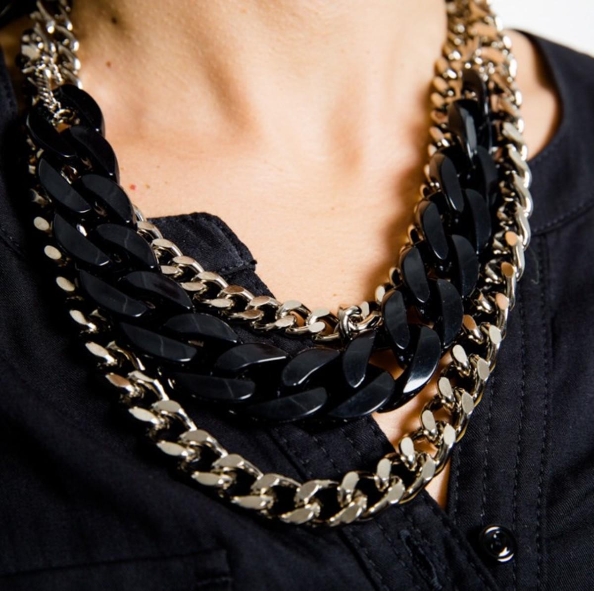 metallic DKNY jewelry