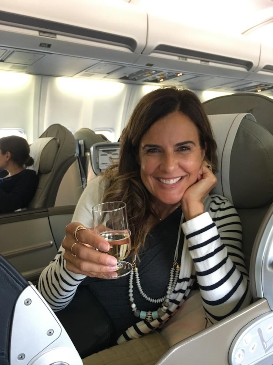 Open skies flight from JFK to Paris