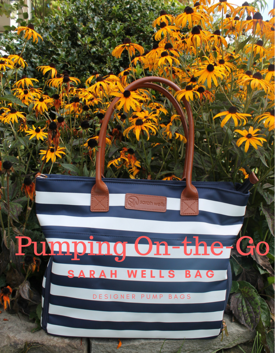pumping on the go, sarah wells bag, pump bag, designer pump bag, on trend bags, pump bags, breastfeeding on the go, breastfeeding moms, BF moms, sarah wells, giveaway