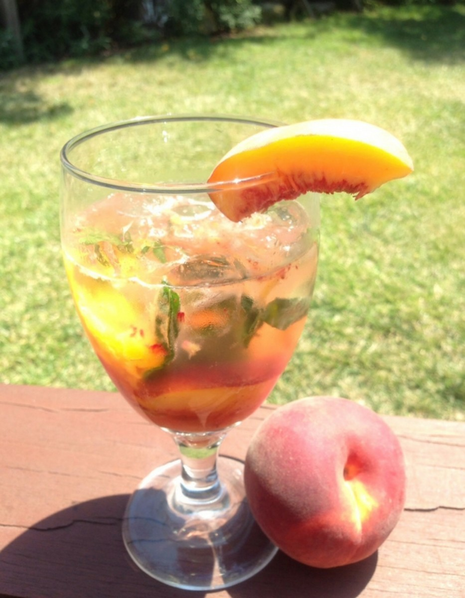 peach cocktail