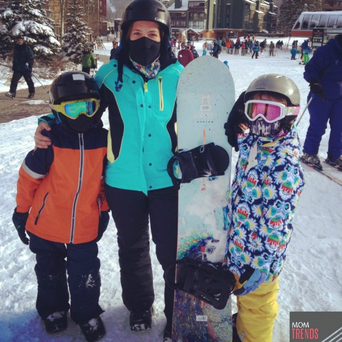 Savvy Sassy Moms Snowboarding with Kids