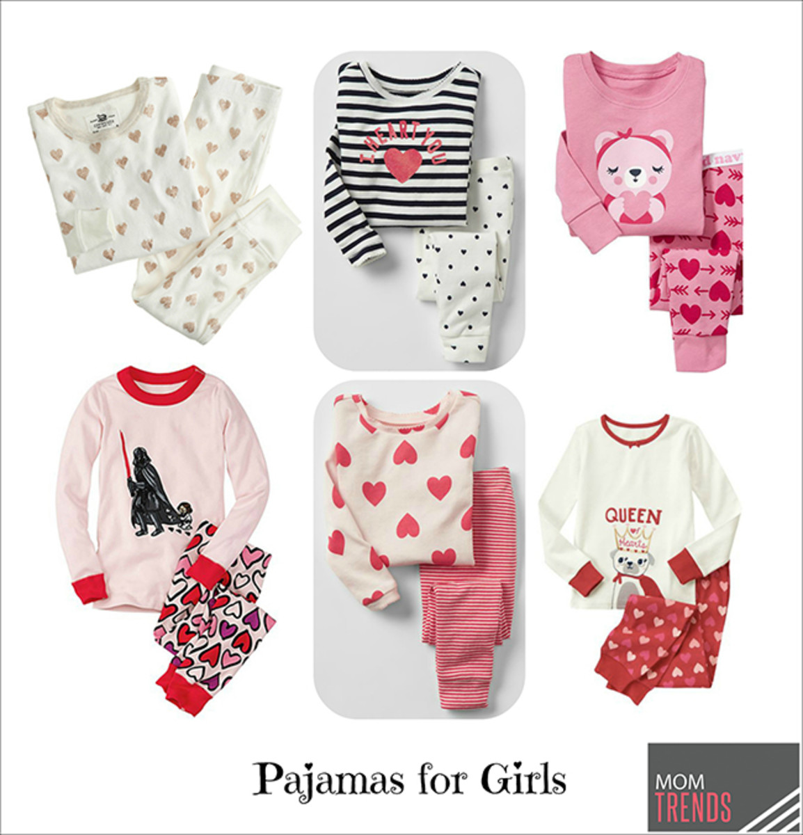 valentines day pajamas for girls