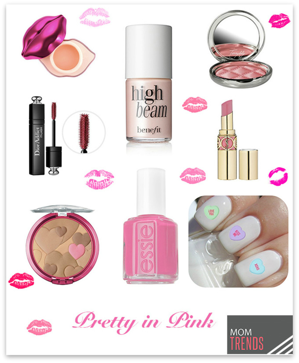 pretty in pink collage f