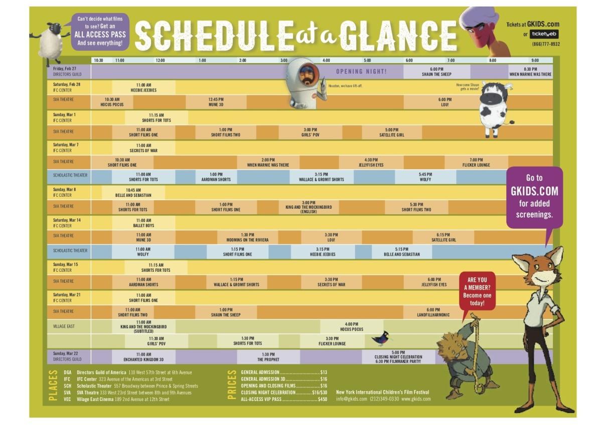 Gkids 2015 schedule