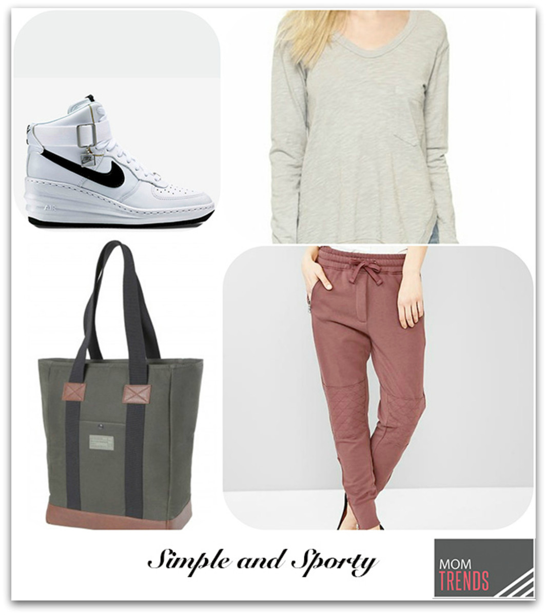 simple and sporty look jogger trend