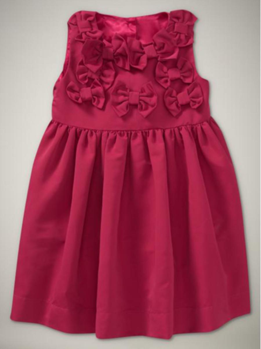 little girl red dress