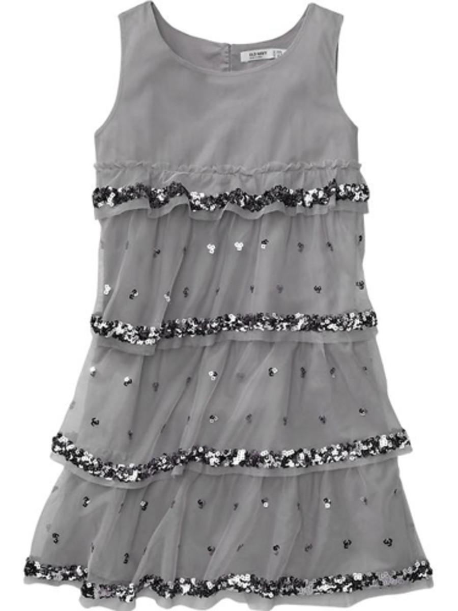 grey little girl dress