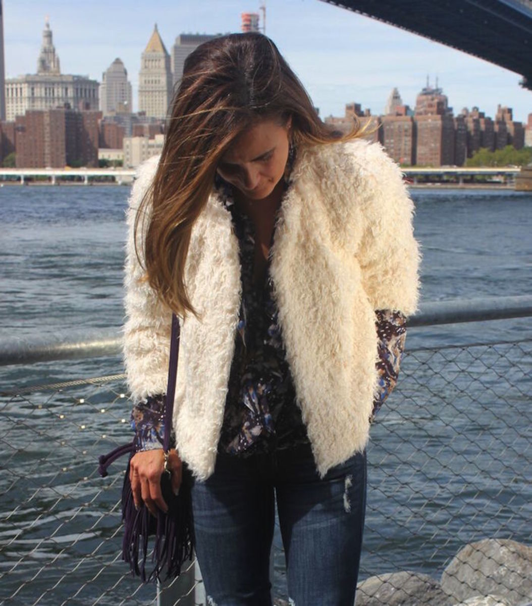 furry coat from cabi