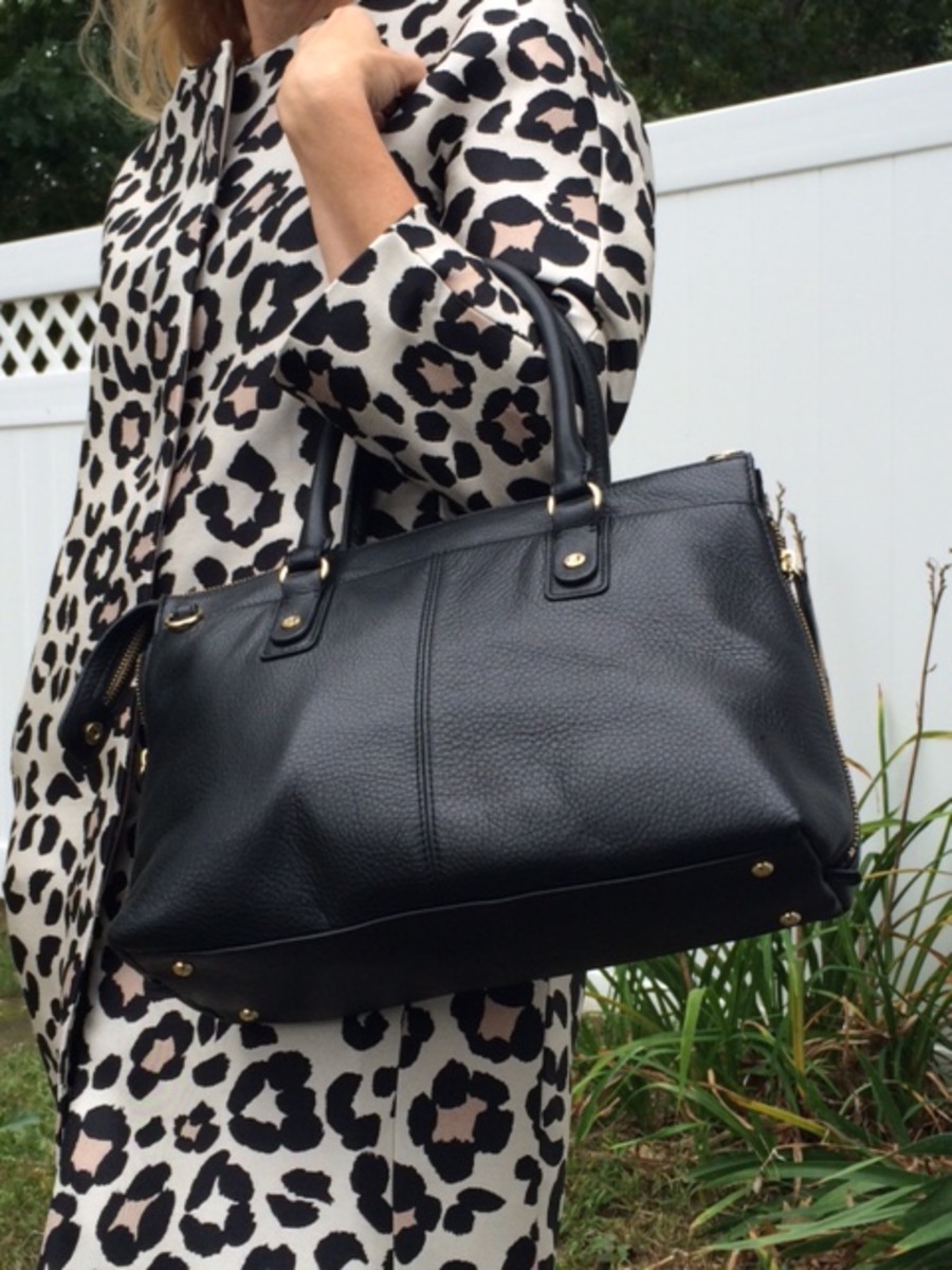 landsend, structured bag, black handbag