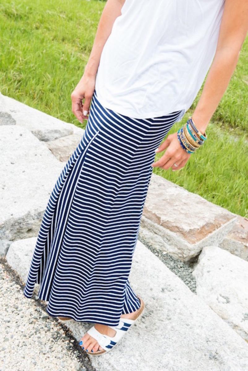 maxi skirt and bangles