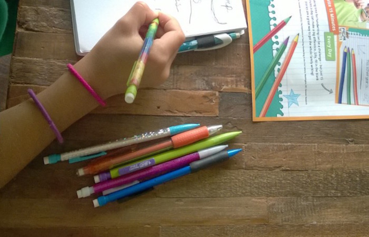colorful writing supplies