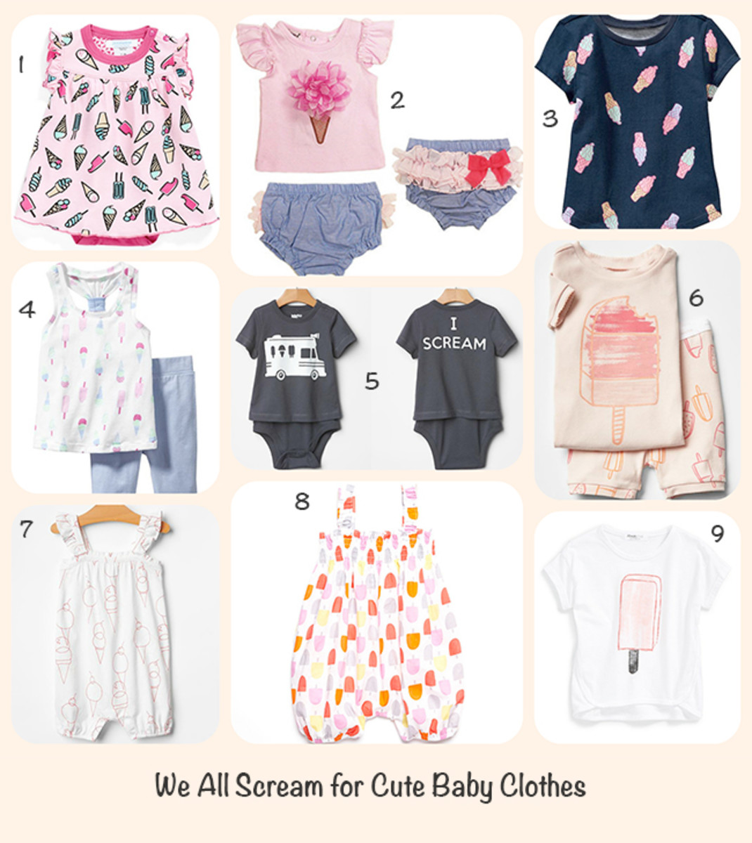 ice cream baby clothes