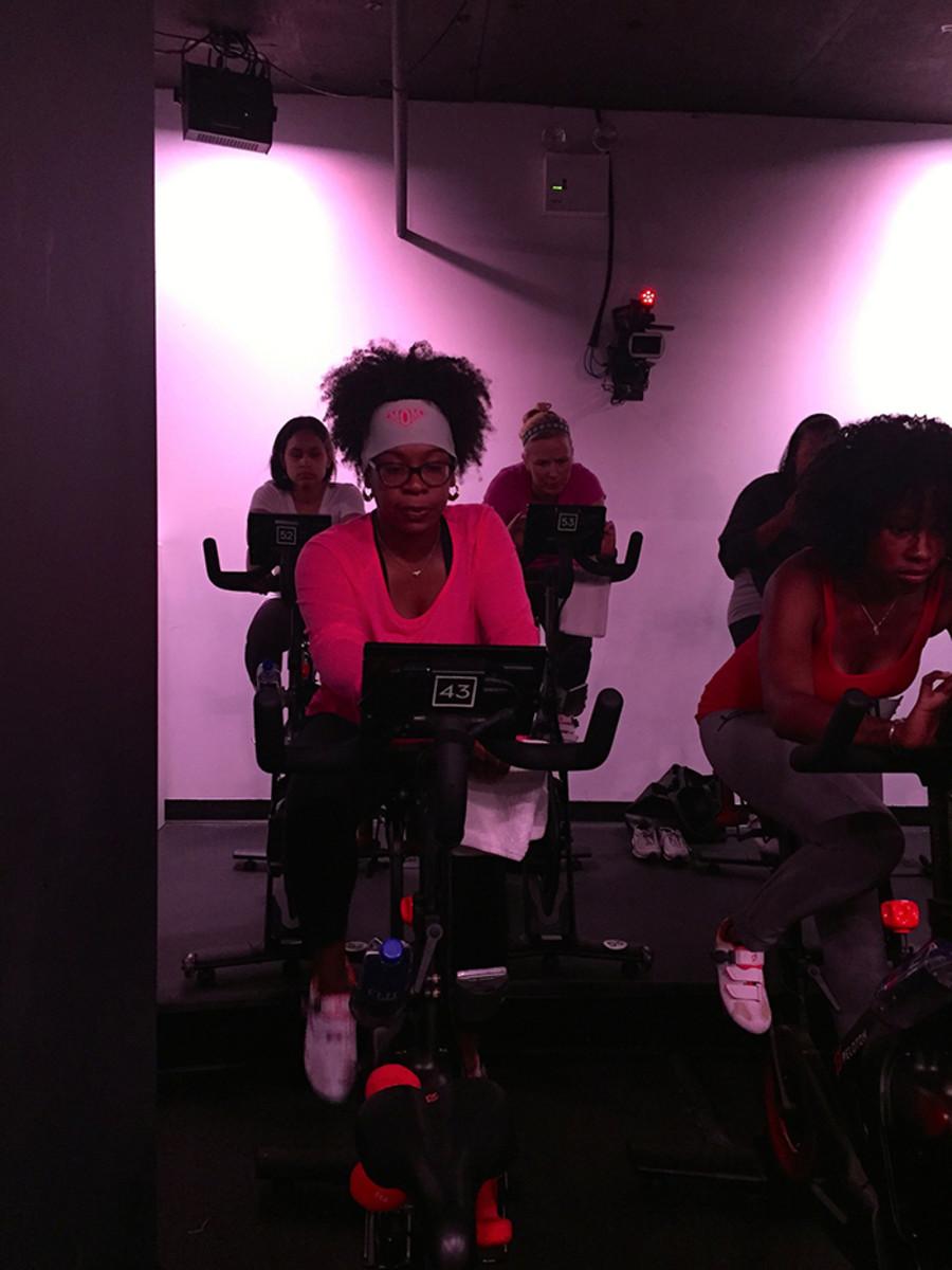 blogger exercising