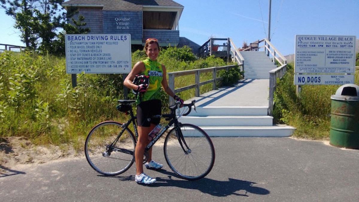 cycling to quogue beach