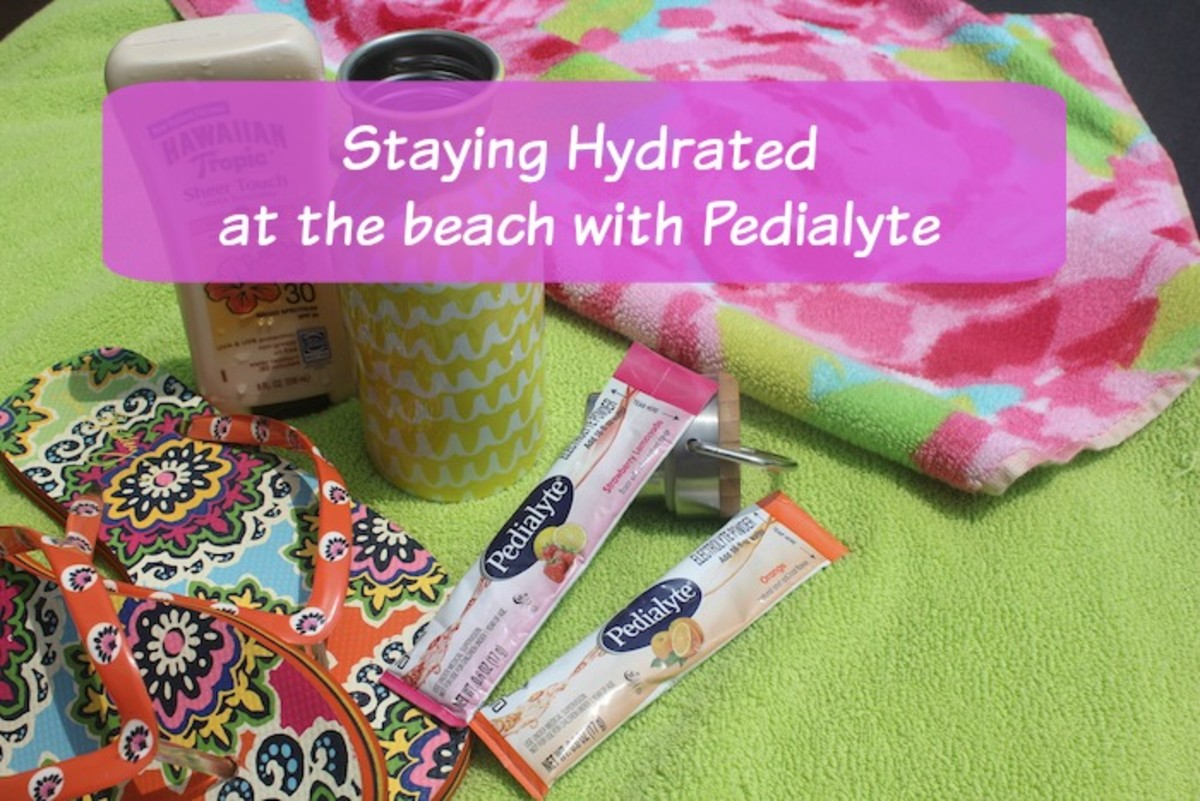 pedialyte  at the beach hydration