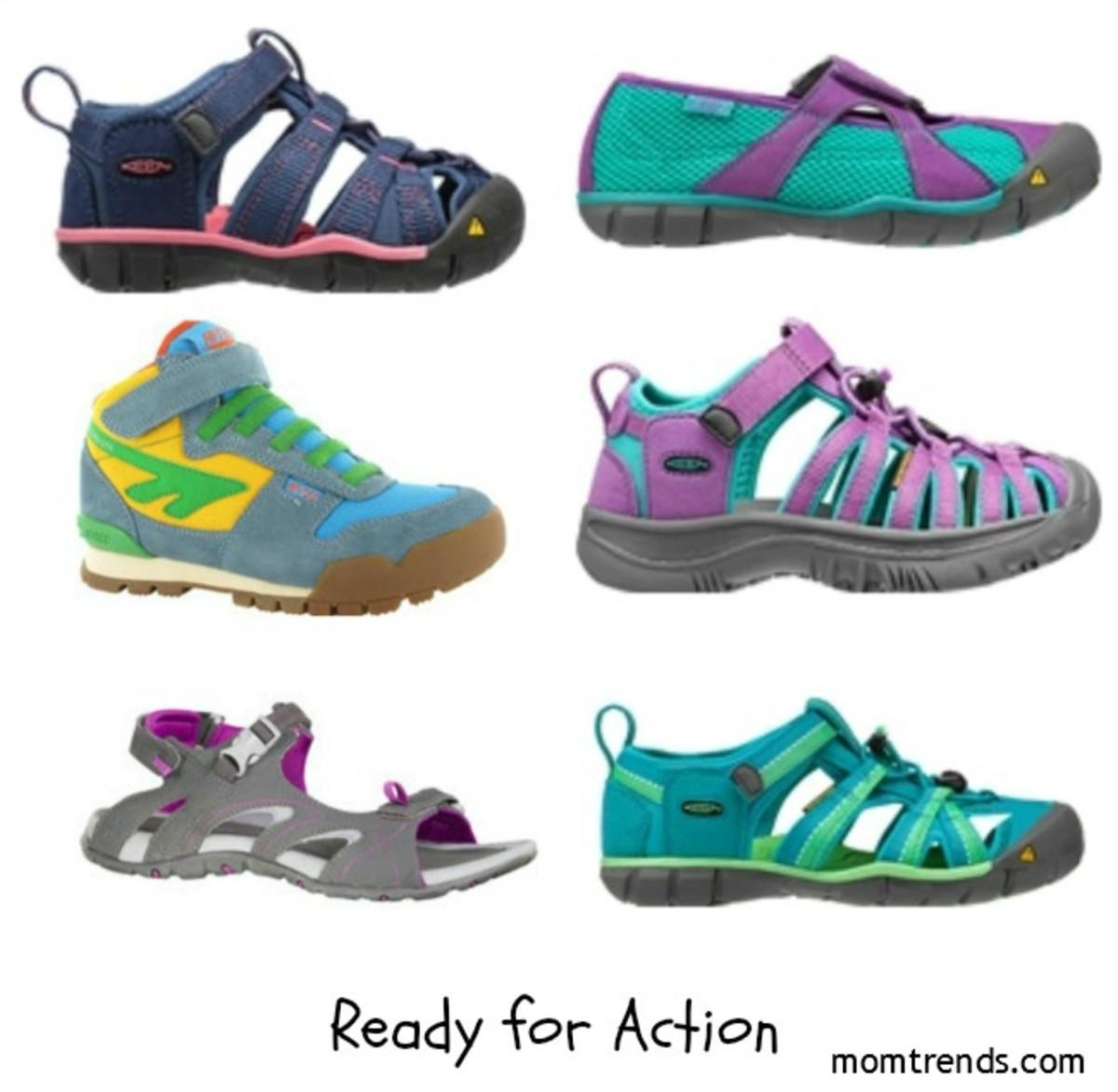 keen, stride rite, hi-tec, children's place, summer shoes, kids summer shoes, water shoes