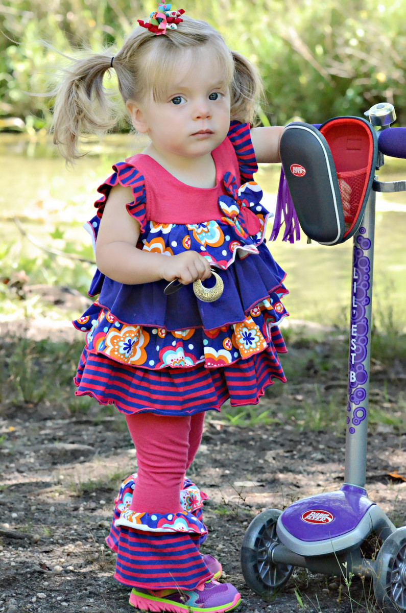 girls dress shop, radio flyer scooter, toddler clothing, back to school