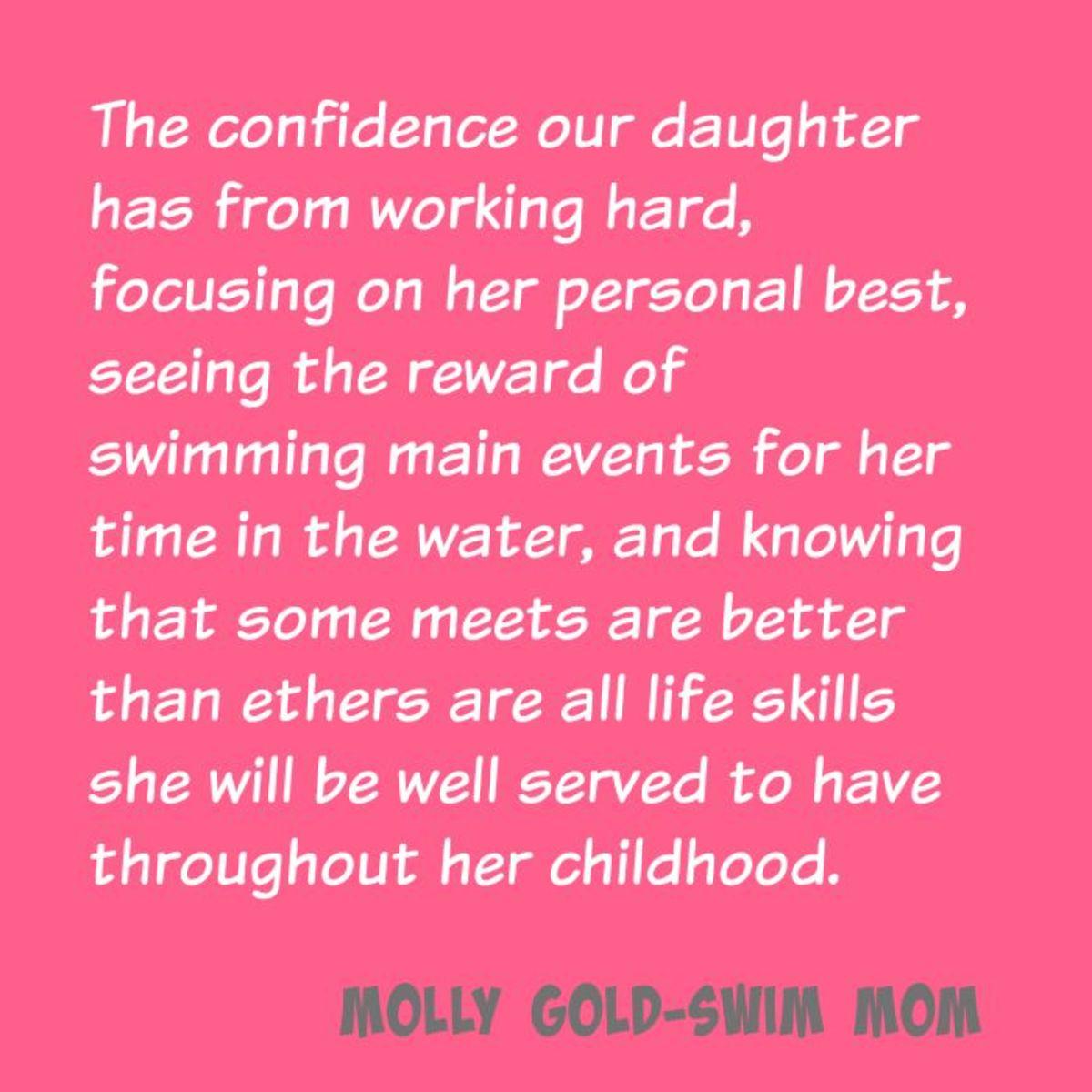 swim mom quote