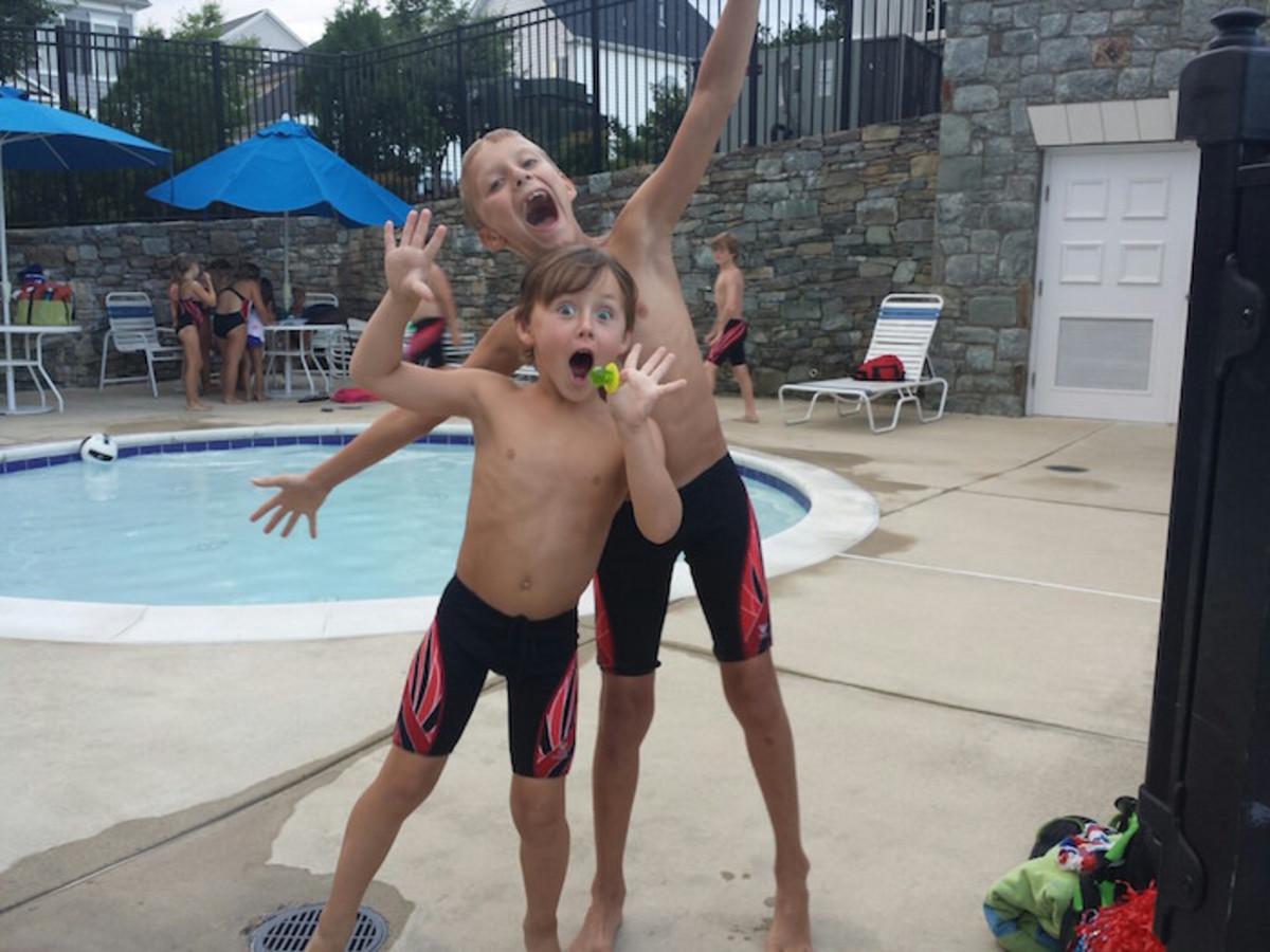 swim team is fun