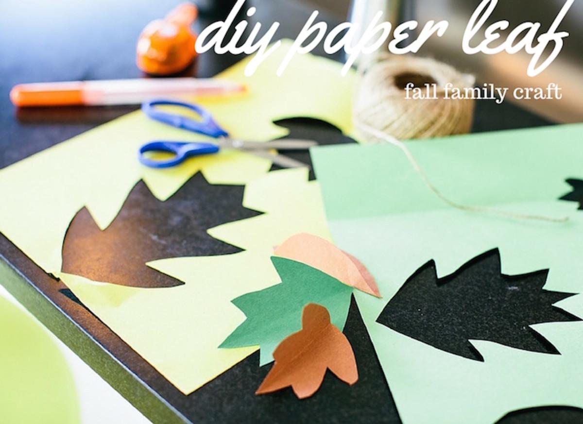 DIY leaf banner