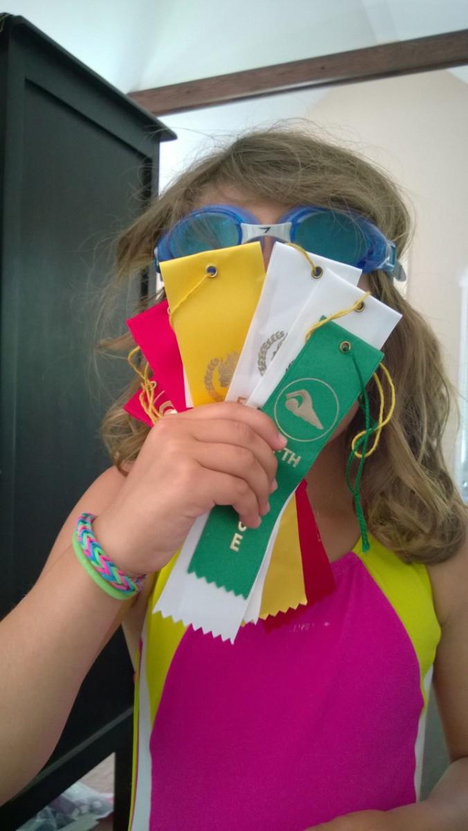 swim team ribbons